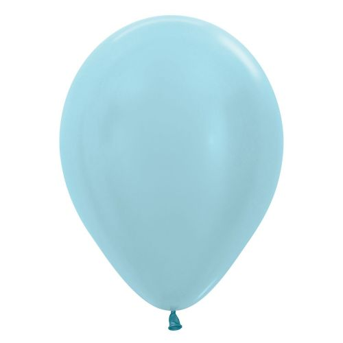 "Satin Solid Blue 440 Latex Balloons 12""/30cm"
